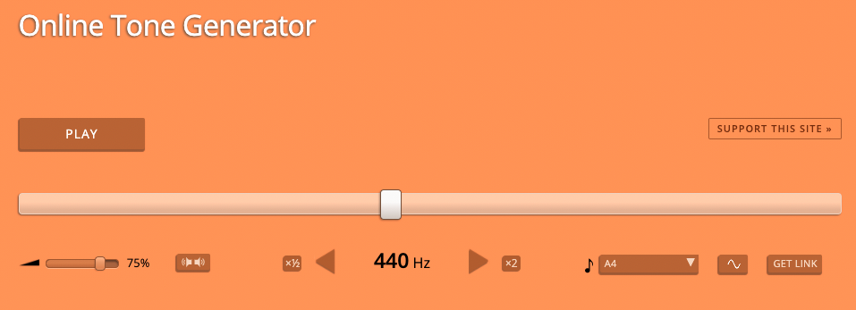 Online tone generator
