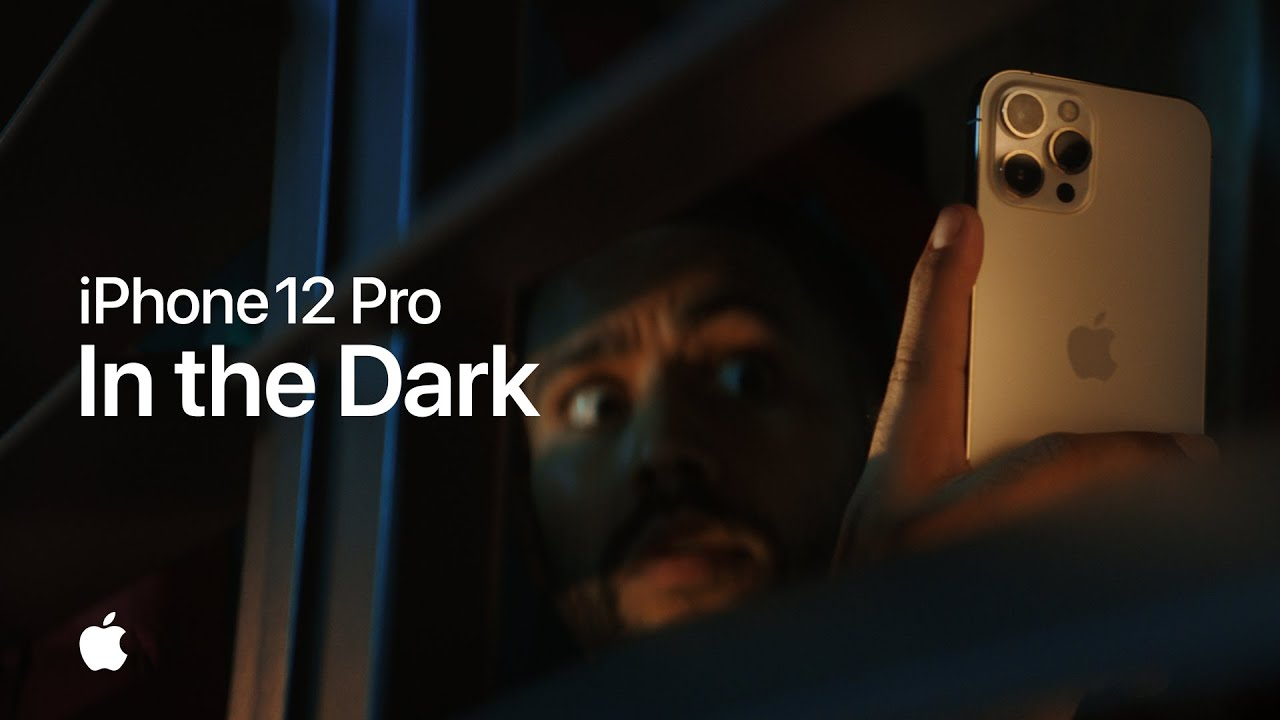 A still from Apple's ad promoting Night Mode on iPhone 12 Pro
