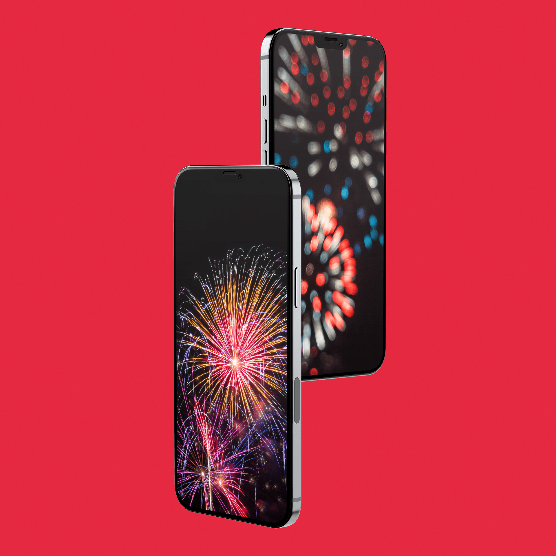 independence day iPhone fireworks wallpaper mockup