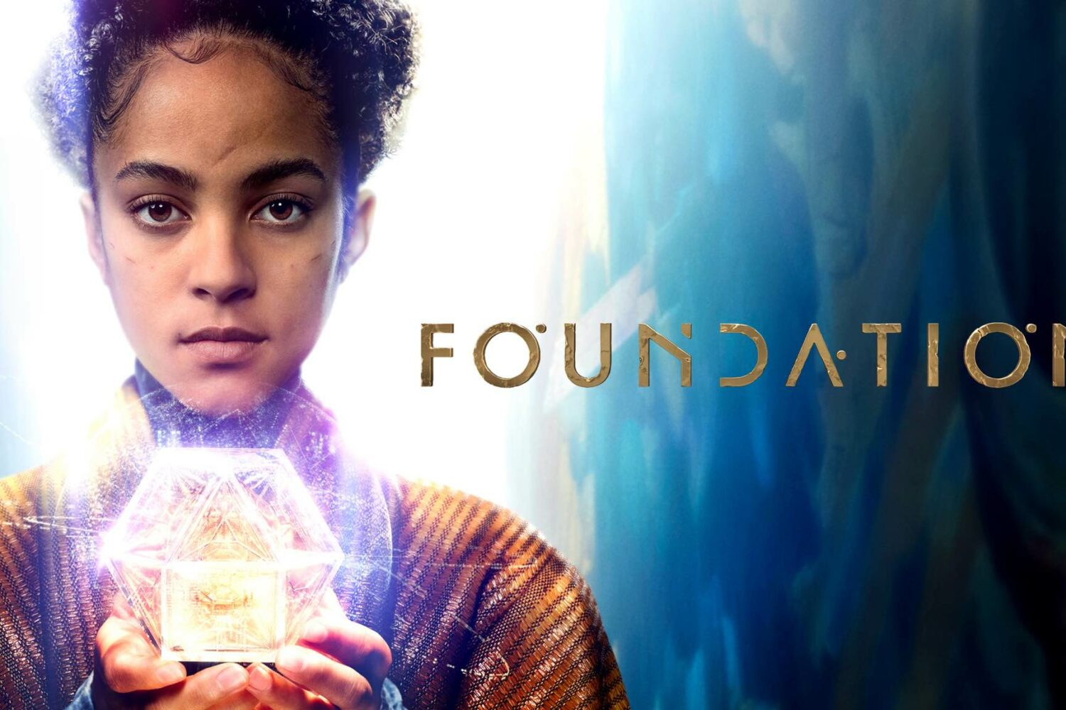 """Promotional artwork for the Apple TV+ science/fiction show """"Foundation"""" based on stories by Isaac Asimov"""