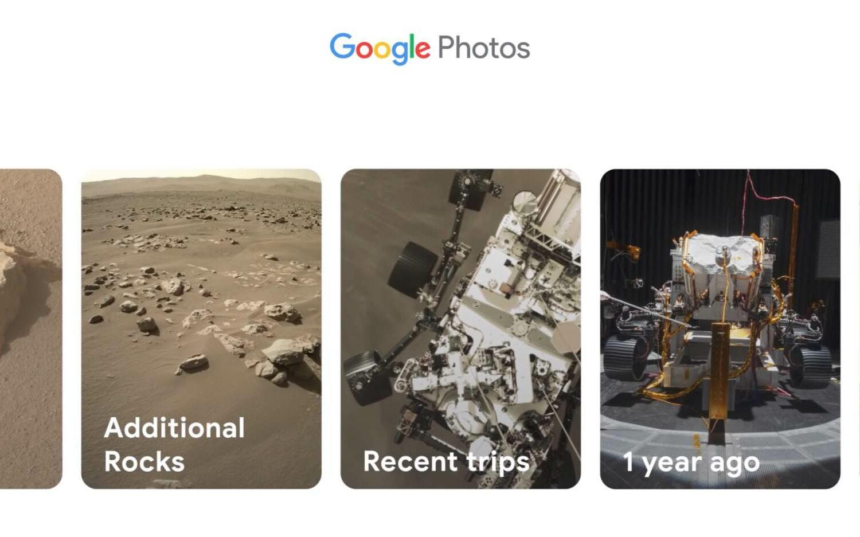 Google Photos ad featuring NASA's Perseverance Rover on Mars