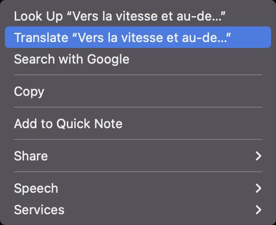 macOS 12 translate