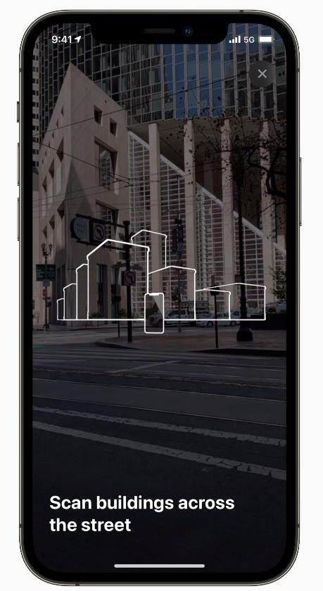 scan buildings iOS 15 Maps