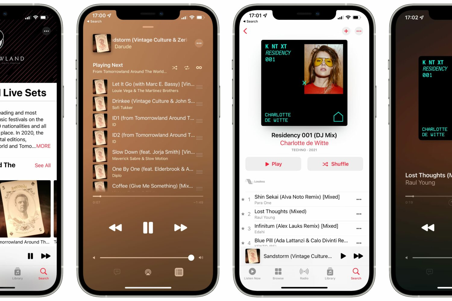 For iPhone screenshots showing DJ mixes on Apple Music