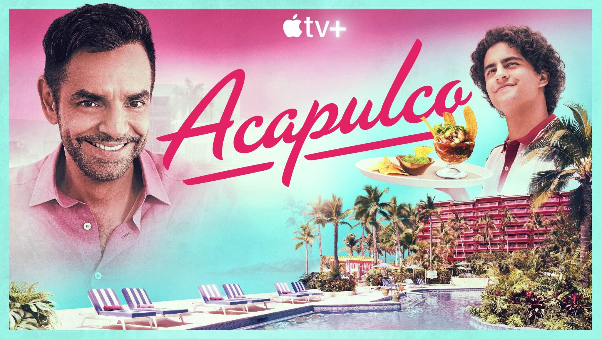 "Poster artwork for Apple TV+ bilingual comedy show ""Acapulco"""