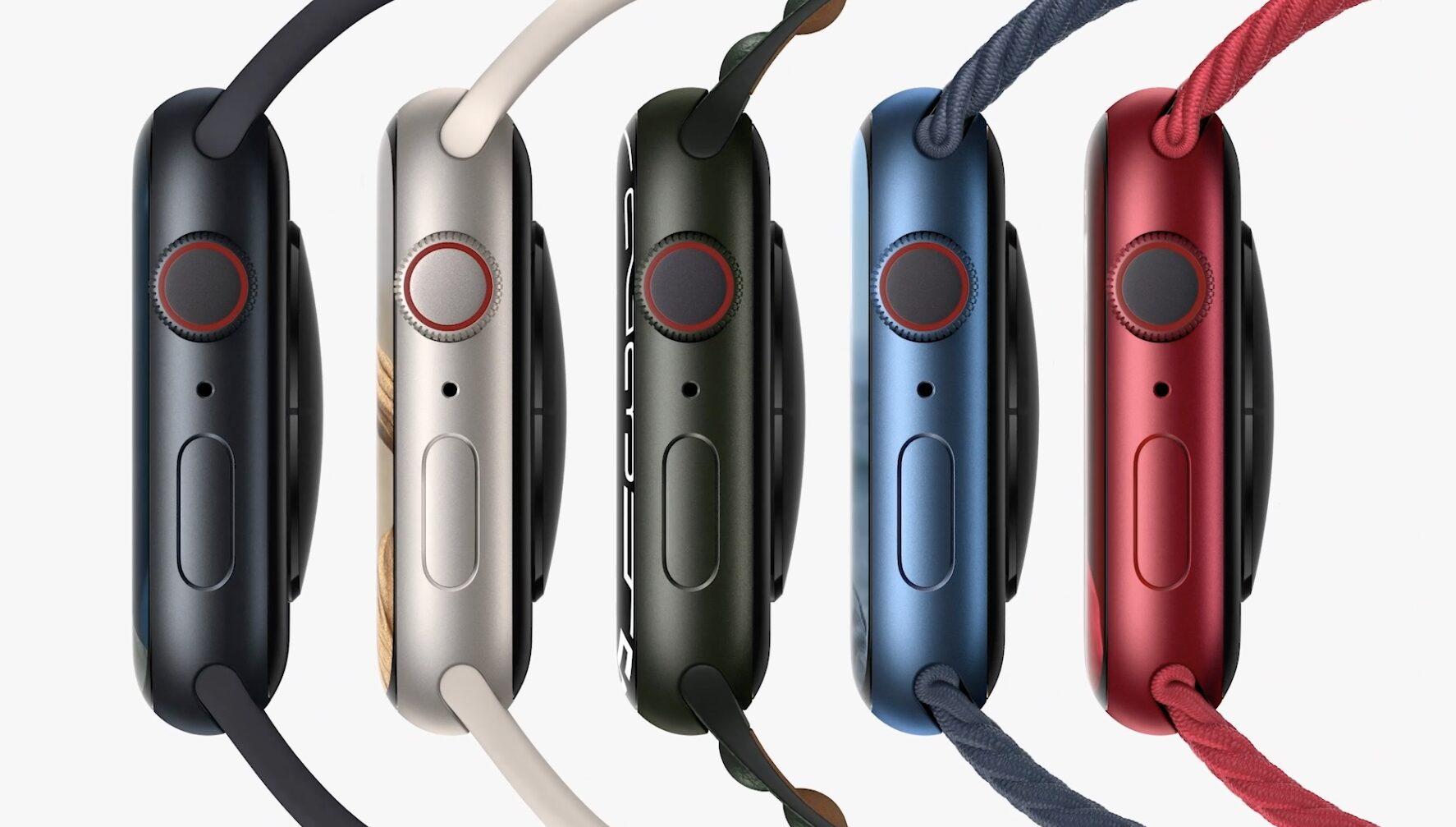 Apple Watch 7 aluminium colors