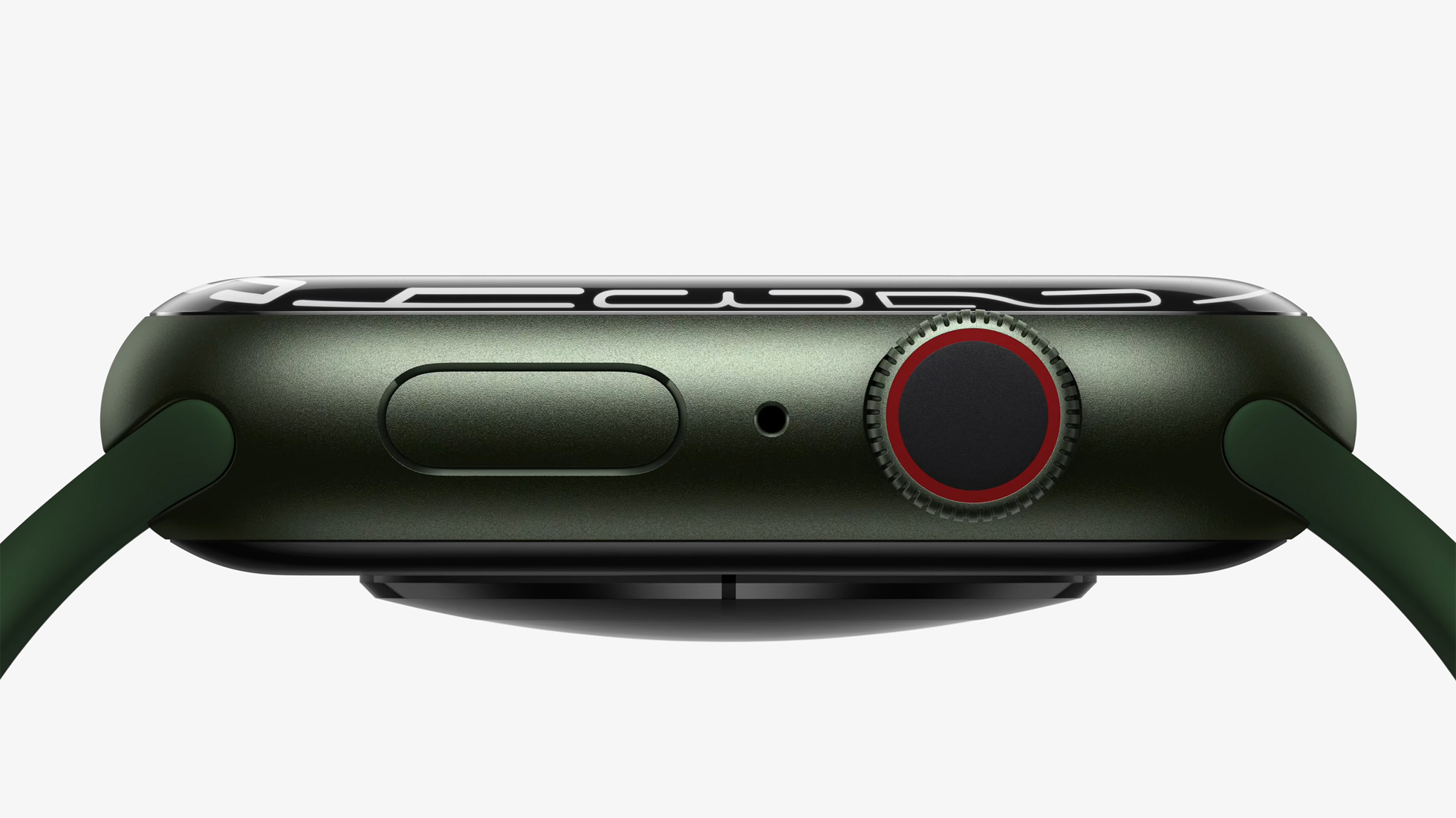 Apple's marketing image showing a profile view of Apple Watch Series 7