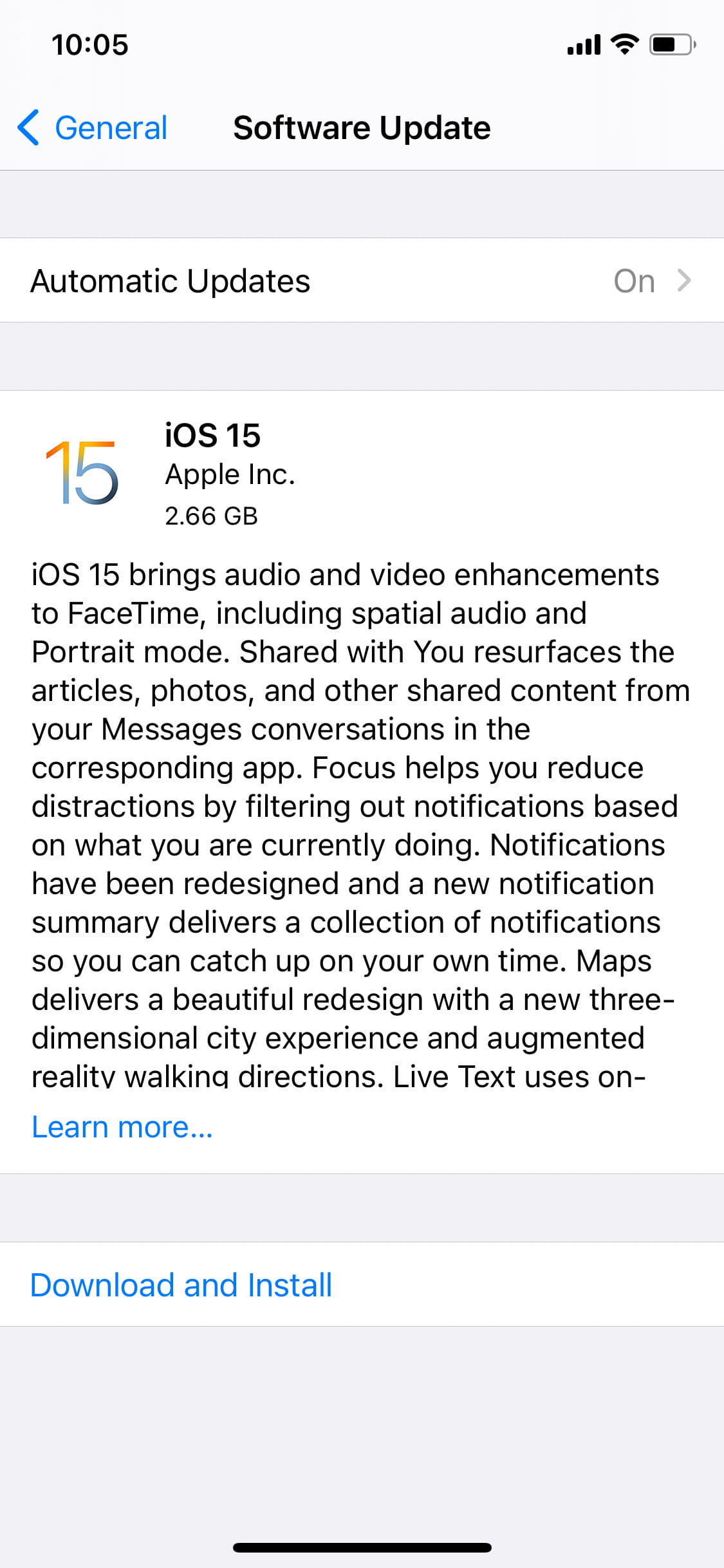Download iOS 15