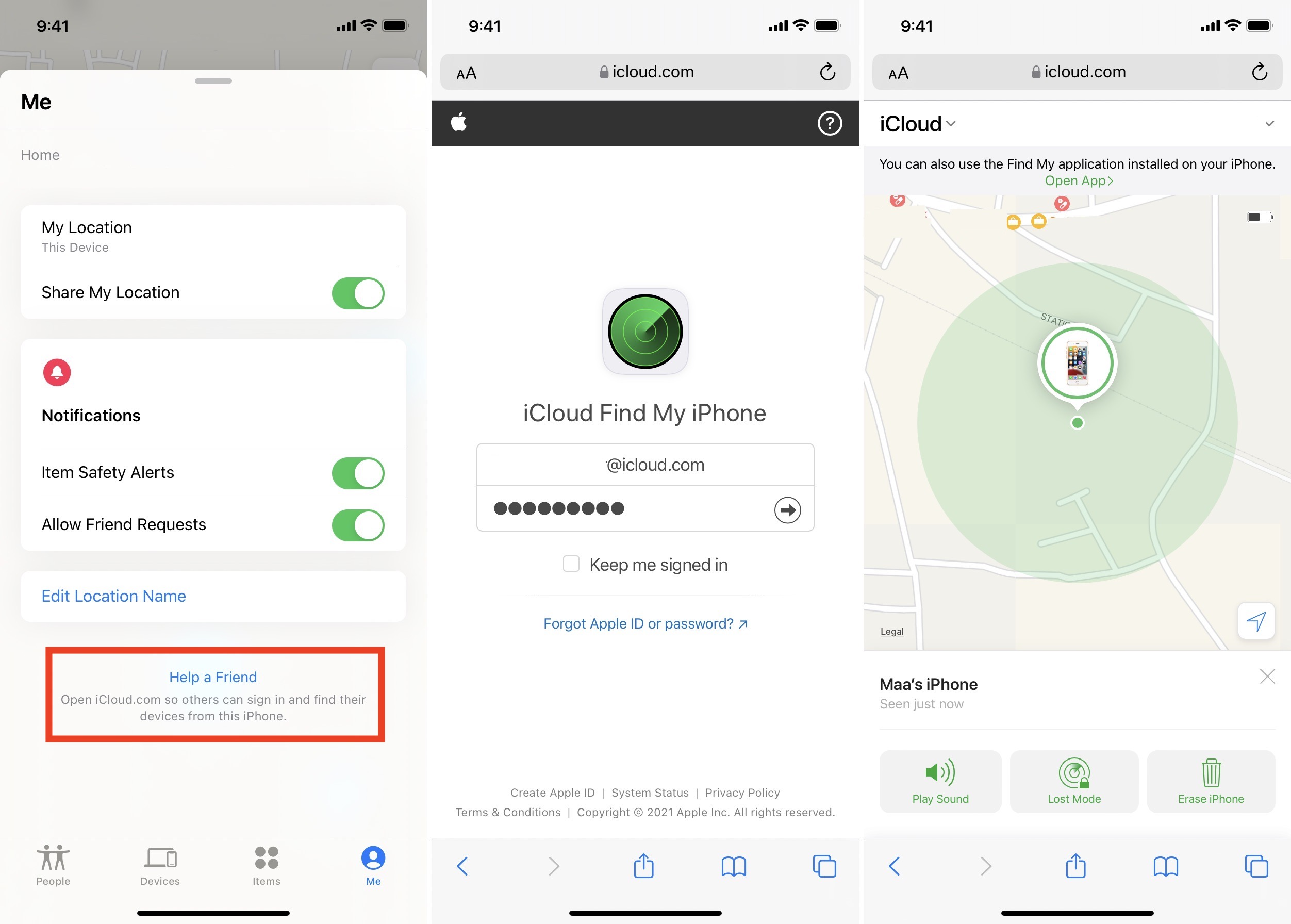 How to use Find My app on your friend's iPhone or iPad to locate your missing Apple device