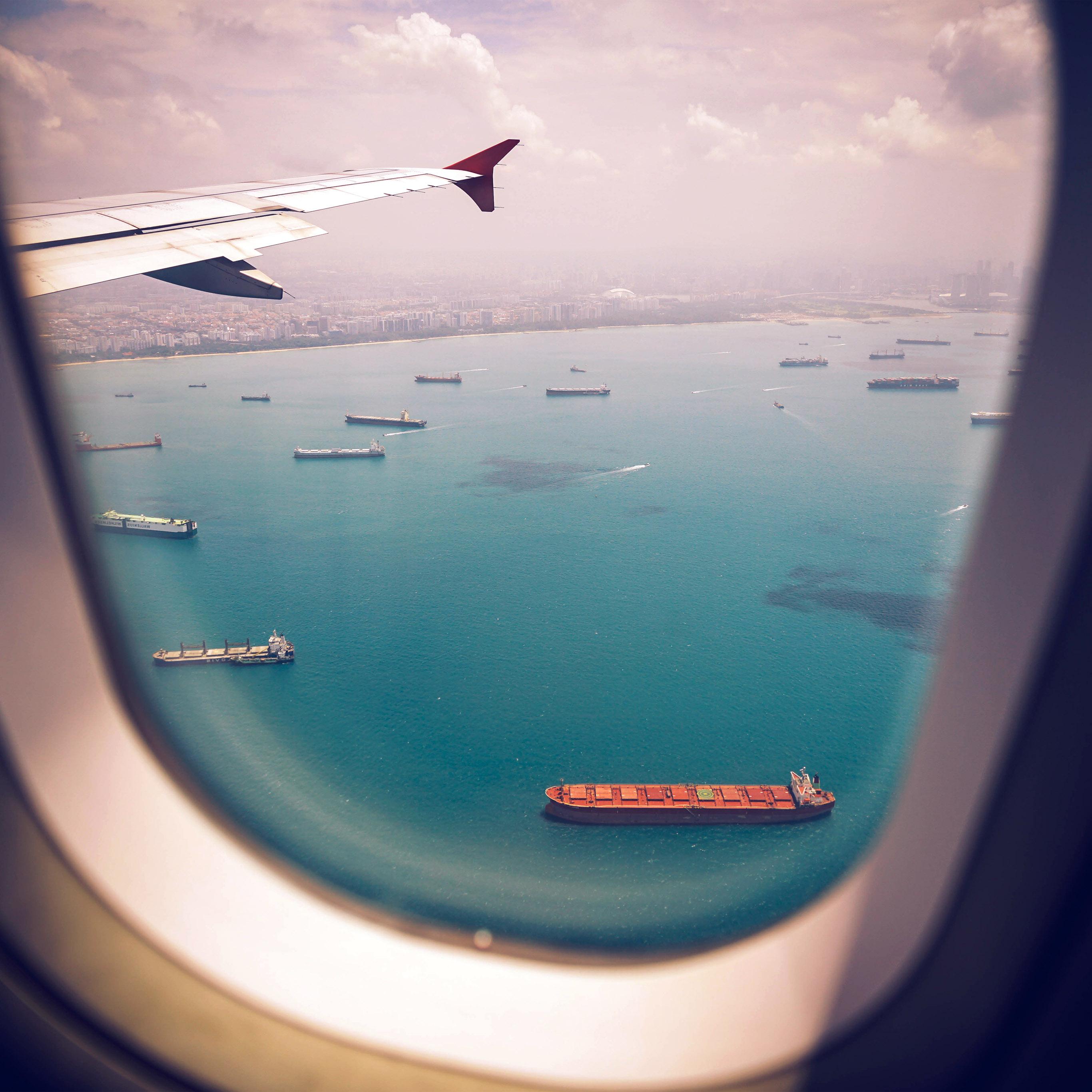 Ocean wallpaper iPhone iDownloadBlog plane