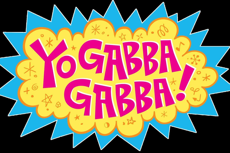 Logo for the kids puppet show Yo Gabba Gabba set against a transparent background