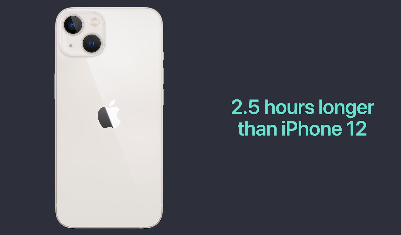 iPhone 13 mini longer battery