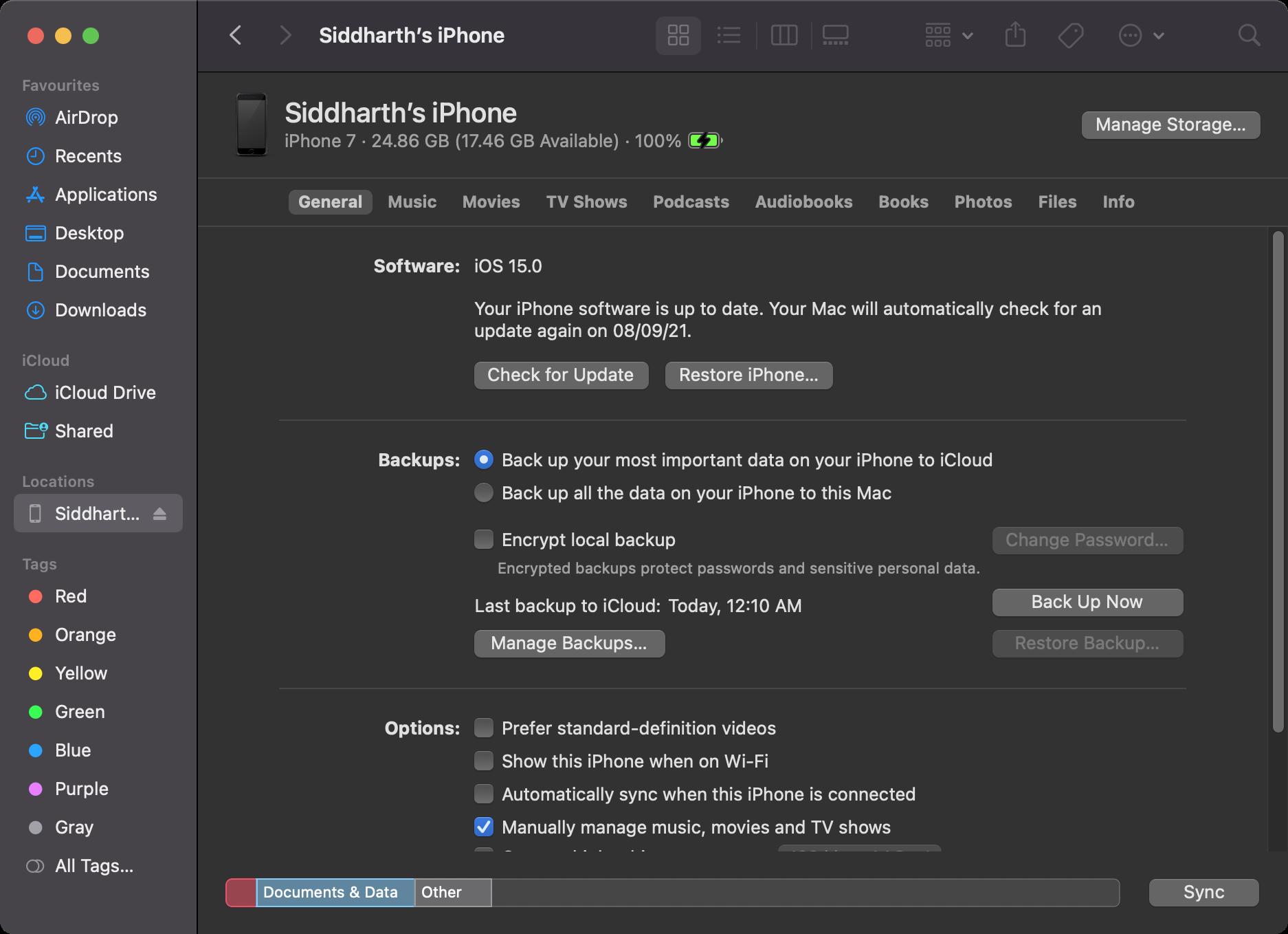 iPhone backup Mac