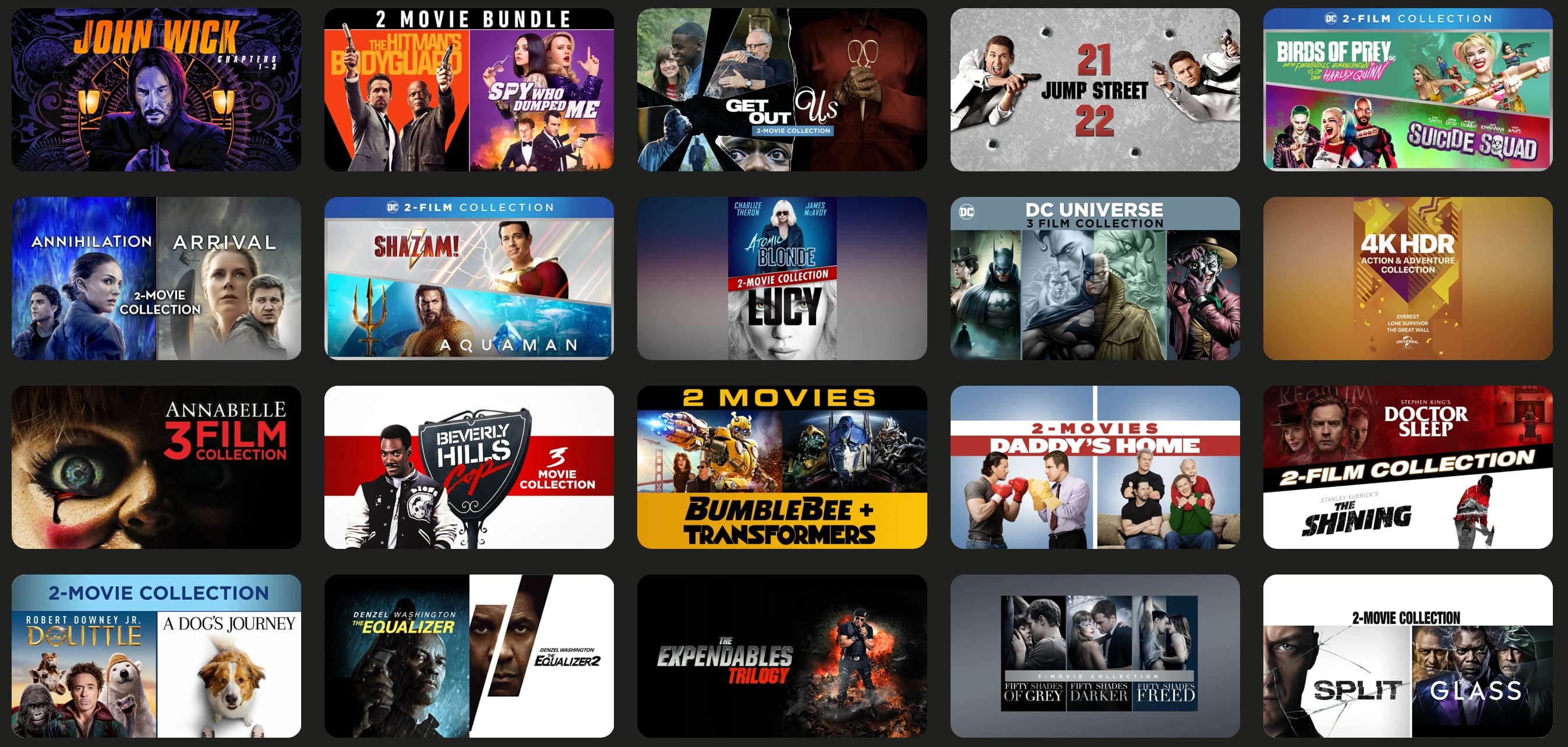 4K bundles start at just $10 and more of this week's iTunes movie deals