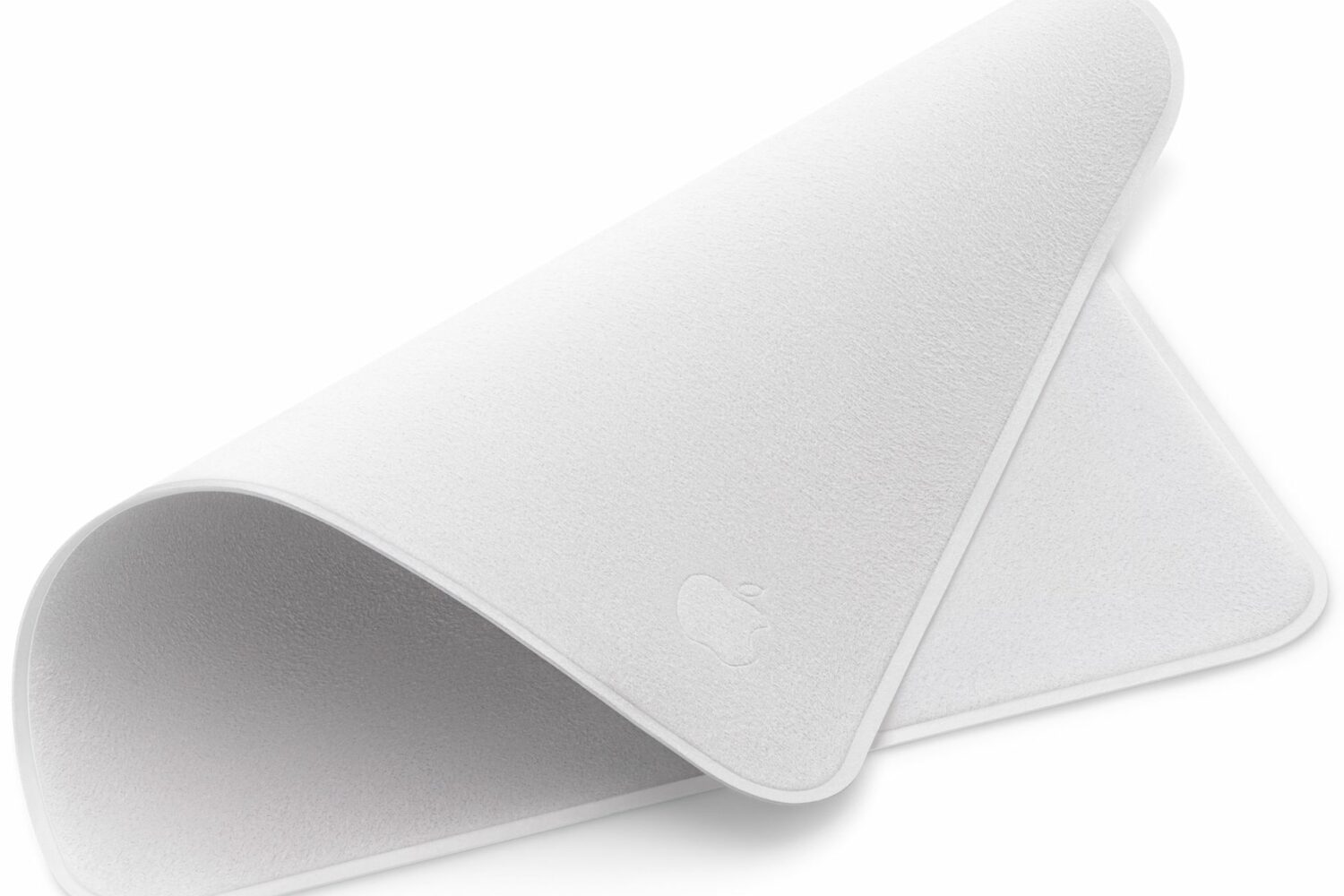 An image of Apple's $29 polishing cloth for cleaning Apple displays and devices