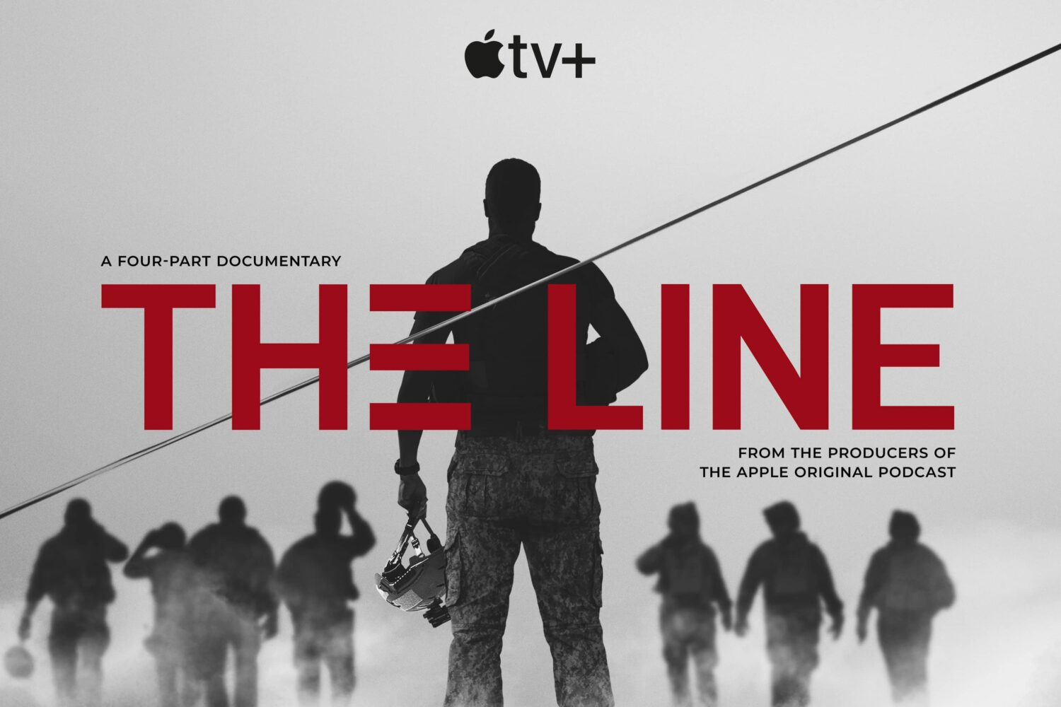 """Poster artwork for the Apple TV+ documentary called """"The Line"""""""