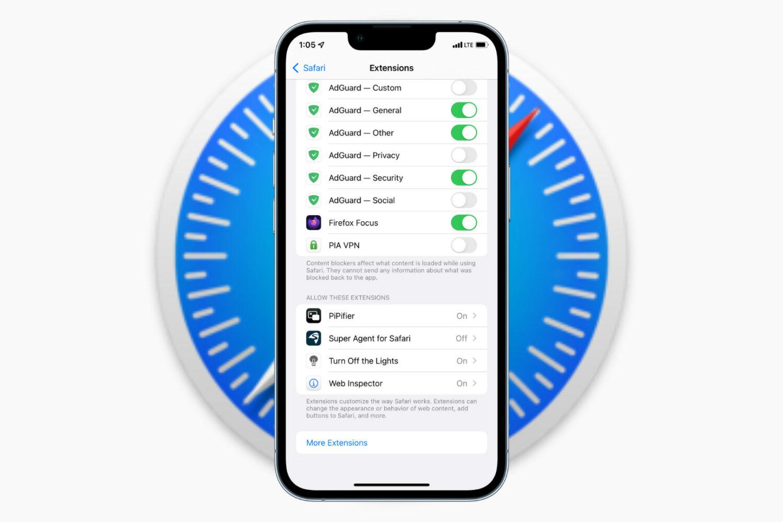 Safari Extension on iPhone in iOS 15